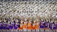Tarian Saman saat pembukaan Asian Games di SUGBK, Jakarta, Sabtu, (18/8/2018). (Bola.com/Vitalis Yogi Trisna)