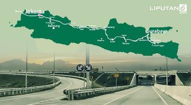 Banner Infografis Satu Arah Tol Trans Jawa Saat Mudik Lebaran