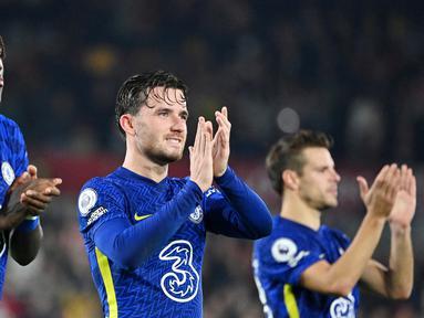 Chelsea yang bertandang ke markas Brentford di Stadion Community mampu mencuri kemenangan tipis dengan skor 1-0 pada pekan ke-8 Premier League 2021/2022. (AFP/Justin Tallis)