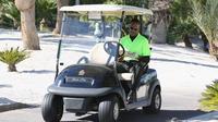Cart, kendaraan multiguna yang biasa digunakan untuk berbagai olahraga. (AFP/Gabe Ginsberg)