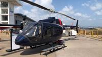 Whitesky Aviation tak hanya menyewakan jasa taksi helikopter melainkan juga merambah ke bidang Helicopter Management. (Vina/Liputan6.com)