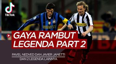 Berita video TikTok Bola.com kali ini membahas Pavel Nedved, Javier Zanetti dan 2 Legenda Sepak Bola yang Tidak Pernah Ganti Gaya Rambut.