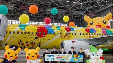 Maskapai Jepang Luncurkan Pesawat Bertema Pikachu, Fans Internasional Harap Bersabar