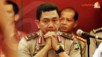 Kapolda Metro Jaya, Irjen Pol Putut Eko Bayuseno tengah mendengarkan uraian dari MBPI. (Liputan6.com/Helmi Fitriansyah)
