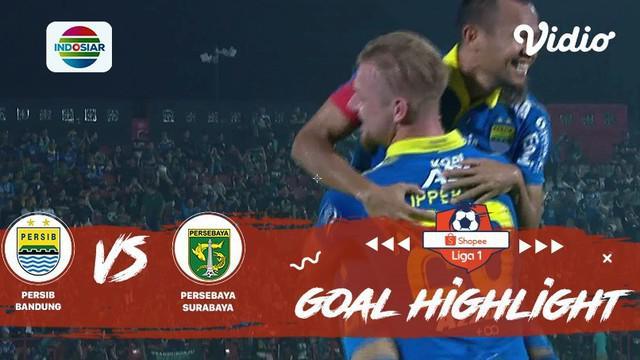 Berita video gol-gol yang tercipta saat Persib Bandung menang 4-1 atas Persebaya Surabaya pada pekan ke-23 Shopee Liga 1 2019, Jumat (18/10/2019).