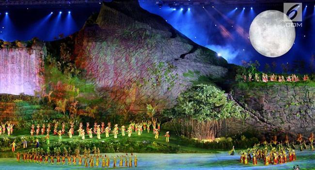 Megahnya opening Asian Games 2018/copyright Liputan6.com/Fery Pradolo