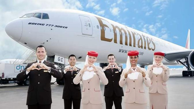 Maskapai Emirates. Dok: Pramita Tristiawati