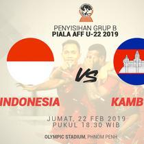 Jadwal Piala AFF U-22 2019, Indonesia vs Kamboja. (Bola.com/Dody Iryawan)