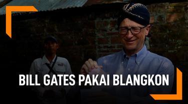 Bill Gates Foto Kenakan Blangkon, Ini yang Ia Lakukan