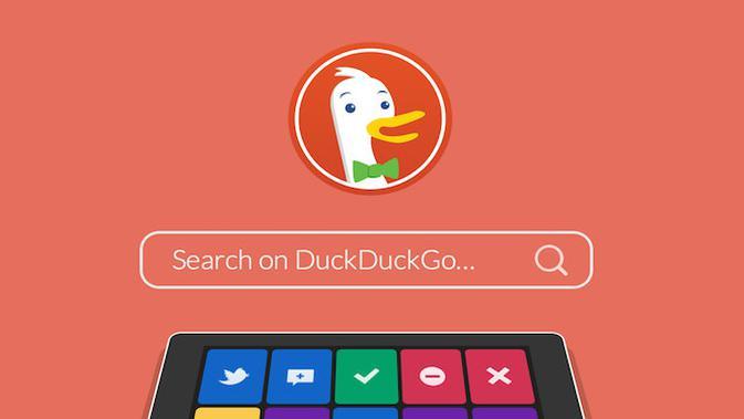 Mesin pencari DuckDuckGo. (Foto: DuckDuckGo)