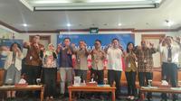 Bank Indonesia menggelar Media Briefing dengan menggandeng para perbankan dan aplikasi jasa pembayaran online untuk menyosialisasikan QRIS (Liputan6.com / Nefri Inge)