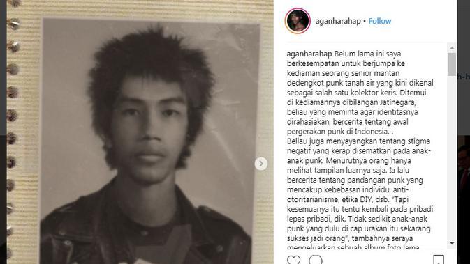 Foto anak punk jadul mirip Presiden Joko Widodo, benarkah ini Presiden di masa mudanya? (Instagram/ @aganharahap)