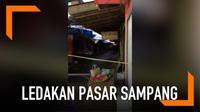 Suara ledakan terdengar di Pasar Sampang di Kabupaten Cilacap, Selasa (19/2/2019). Suara ledakan itu mengagetkan warga sekitar pukul 09.21 WIB.