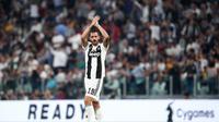 6. Leonardo Bonucci – Salah satu bek terbaik yang dimiliki oleh Juventus. Banyak gelar yang sudah diberikan untuk si Nyonya Tua. Hal tersebut membuat Manchester United kepincut mendatangkan bek 31 tahun tersebut. (AFP/Isabella Bonotto)