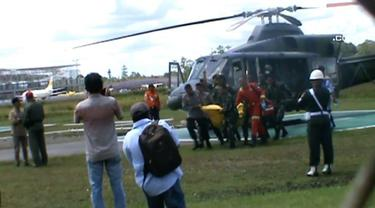 Sembilan jenazah korban KBB Papua dari PT Istaka Karya dievakuasi ke Timika.