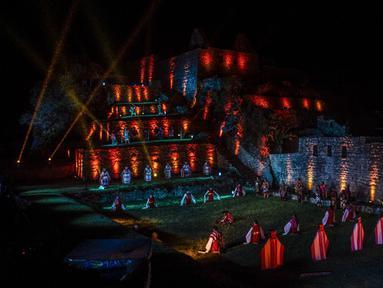 Pemandangan situs arkeologi Machu Picchu di Cusco, Peru, 1 November 2020. Benteng Inca Machu Picchu kembali dibuka pada 1 November 2020 setelah dibiarkan kosong selama hampir delapan bulan. (ERNESTO BENAVIDES/AFP)