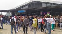 Polisi amankan pelajar demo di Bogor.