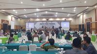 KPU Jombang, Jawa Barat menggelar rapat pleno penghitungan suara sejak 1-3 Mei 2019. (Liputan6.com/ Dian Kurniawan)