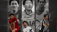 Premier League - Takumi Minamino, Son Heung-min, Yoshinori Muto (Bola.com/Adreanus Titus)
