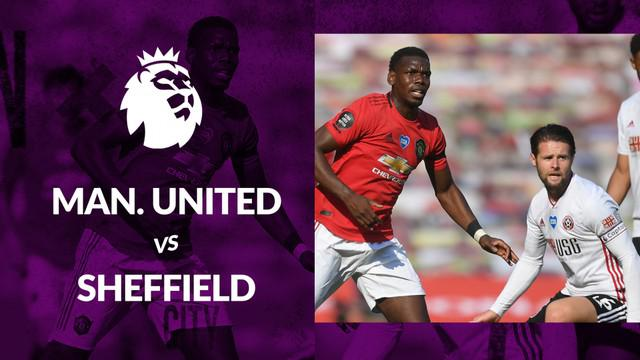 Berita motion grafis statistik Manchester United vs Sheffield United pada lanjutan Premier League 2019-2020 pekan ke-31.