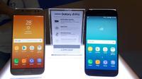Tampak depan Samsung Galaxy J5 Pro. (Liputan6.com/Agustinus M Damar)