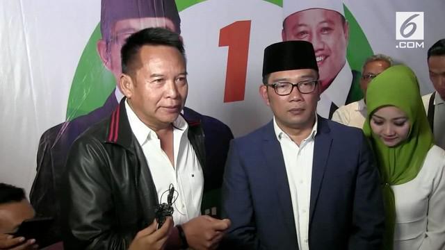 TB Hasanudin mengucapkan selamat kepada pasangan Ridwan Kamil dan Uu Ruzhanul Ulum yang telah menang hitung cepat Pilkada Jawa Barat.
