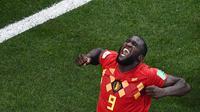 2. Romelu Lukaku (Belgia) - Jumlah golnya kini sudah empat butuh tiga gol lagi untuk menyusul Harry Kane. Dengan penampilan negaranya yang kian solid bukan tidak mungkin bomber MU ini bisa menjadi pencetak gol terbanyak. (AFP/Jewel Samad)