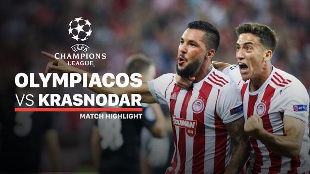 Berita video highlights playoff Liga Champions 2019-2020 antara Olympiakos melawan Krasnodar yang berakhir dengan skor 4-0, Rabu (21/8/2019).