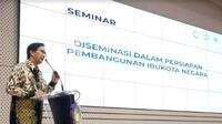 Seminar Diseminasi dalam Persiapan Pembangunan Ibu Kota Negara di Gedung Research Center ITS, Senin (30/9/2019). (Foto: Liputan6.com/Dian Kurniawan)