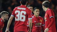 Penyerang MU, Alexis Sanchez bisa jadi kunci MU kalahkan Manchester City (AFP Photo)