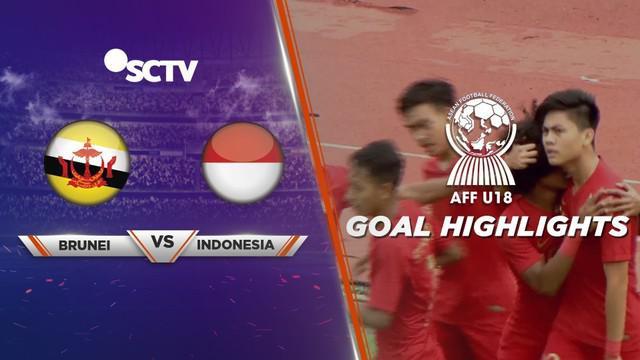 Berita video gol-gol yang ditorehkan Timnas Indonesia U-18 saat menghadapi Brunei Darussalam U-18 di Grup A Piala AFF U-18 2019, Sabtu (10/8/2019).