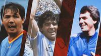 Ilustrasi - Maradona, Ricky Yacobi, Paolo Rossi (Bola.com/Adreanus Titus)