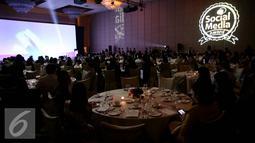 Suasana acara Penganugrahan Social Media dan Digital Marketing Awards 2016 di Hotel Mulia, Jakarta, Selasa malam (19/10). Penganugerahan ini diberikan kepada perusahaan di Indonesia yang sukses menjalankan digital campign. (Liputan6.com/Johan Tallo)