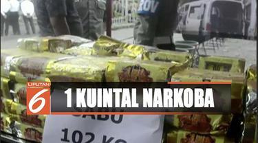 Polres Lampung selatan musnahkan 1 kuintal dan puluhan kilogram ganja bernilai Rp 175 miliar.