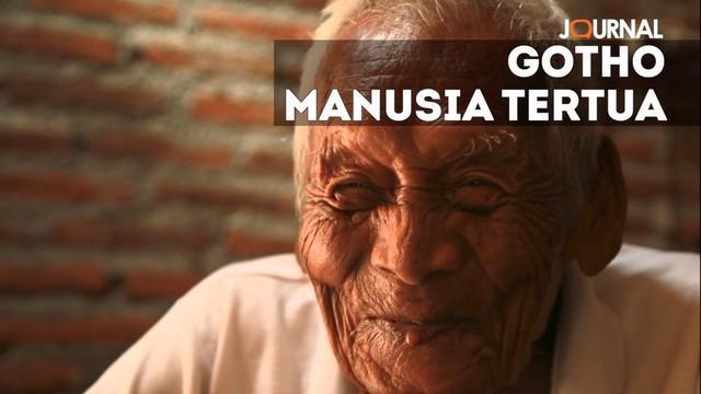 Sodimejo alias Mbah Gotho, manusia tertua abad 21 meninggal dunia hari ini Minggu 30 April 2017