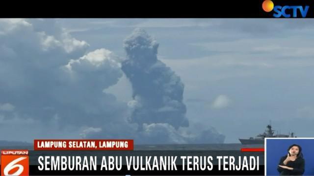 Aktivitas Anak Krakatau masih tinggi. Belum ada tanda-tanda erupsi Anak Krakatau akan menurun.