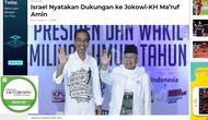 Banner - Cek Fakta - Screenshot situs yang menulis dukungan Israel ke Jokowi-Ma'ruf. (Liputan6.com)