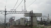 Pembangunan di Stasiun Manggarai, Jakarta. (Liputan6.com/ Ratu Annisaa)