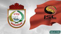 Logo PSM Makassar dan ISL 2010. (Bola.com/Dody Iryawan)