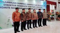 Pelantikan direktur eksekutif dan para direktur komite nasional keuangan syariah pada Kamis (3/1/2019) (Foto:Merdeka.com/Yayu Agustini)