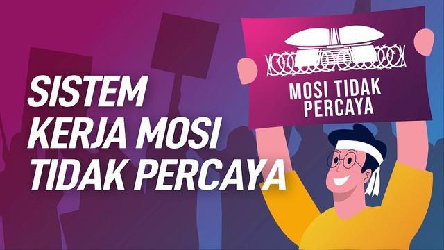 Biasanya, mosi tidak percaya justru dikeluarkan parlemen kepada pemerintah namun saat ini dari mahasiswa kepada DPR.