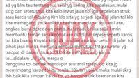 Jasa Marga Buka Suara Kabar Tidak Benar Soal Premi Asuransi di Struk Jalan Tol (Ist)