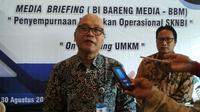 Kepala BI Cirebon Fadhil Nugroho menyampaikan wacana pemindahan Ibu Kota Jawa Barat di Cirebon sangat tepat. Foto (Liputan6.com / Panji Prayitno)