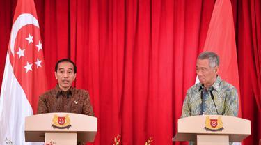 Presiden Jokowi dan PM Singapura Lee Hsein Loong