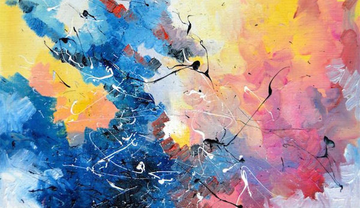 lukisan abstrak super epik dan luar biasa mengagumkan