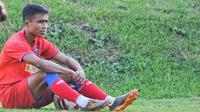 Pemain sayap Arema FC, Ridwan Tawainella. (Bola.com/Iwan Setiawan)