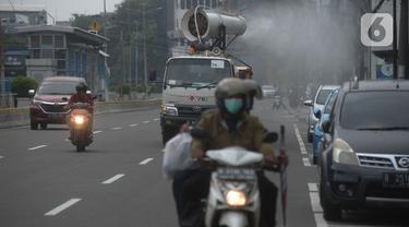 Cegah Corona, Mobil Gunner PMI Diterjunkan di Jalan Protokol Ibu Kota