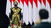 Presiden Joko Widodo (Jokowi) mengenakan pakaian adat dari Pulau Sabu, NTT di sidang tahunan MPR 2020. (dok. Muchlis Jr - Biro Pers Sekretariat Presiden)