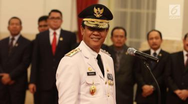 Senyum Isdianto Usai Dilantik Jokowi Menjadi Wakil Gubernur Kepri