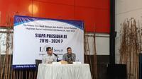 Peneliti LSI Denny JA, Ardian Sopa menyampaikan rilis terkait Pilpres 2019. (Liputan6.com/Yopi Makdori)